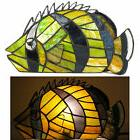 Colorful Stained Glass Tropical Fish Night Light Accent Tabl