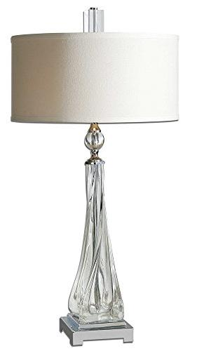 contemporary twisted glass lamp