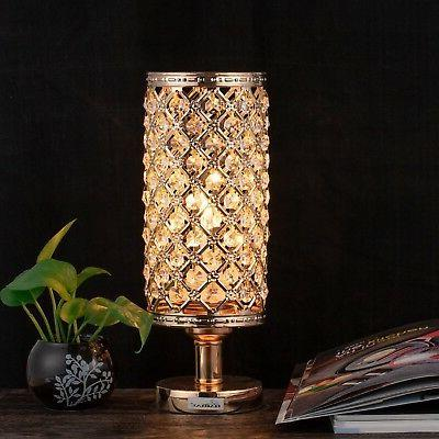 HAITRAL Crystal Table Lamps - Nightstand Desk B...