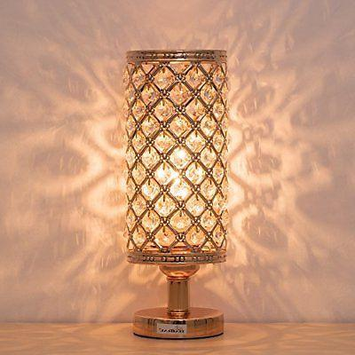 crystal bedside table lamps nightstand