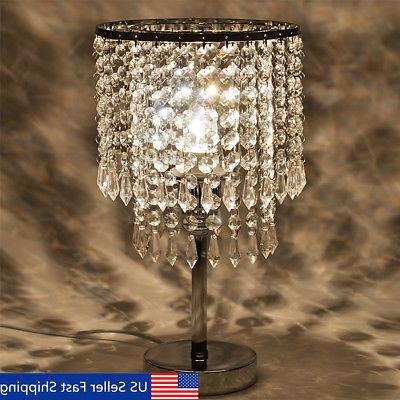 Crystal Chandelier Modern Table Lamp E27 Pendant Fixture Hom