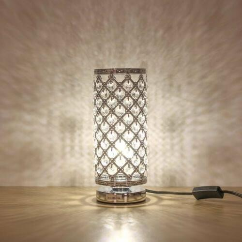 Holiday Gift Crystal Table Lamp Decorative Room Desk Reading