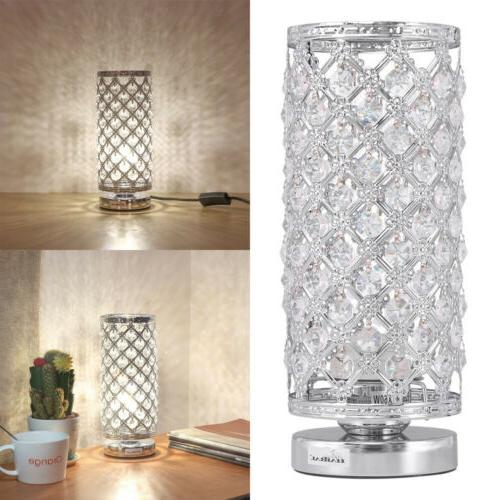 crystal table lamp bedside nightstand desk reading