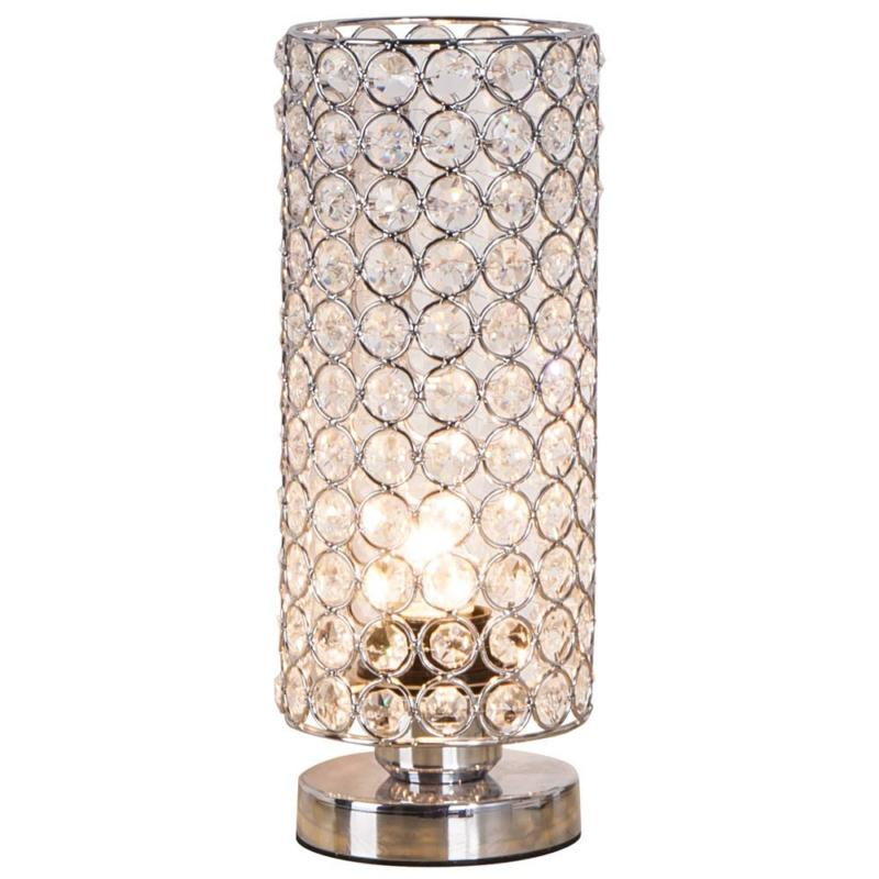 ZEEFO Crystal Table Lamp, Nightstand Decorative Room Desk, N