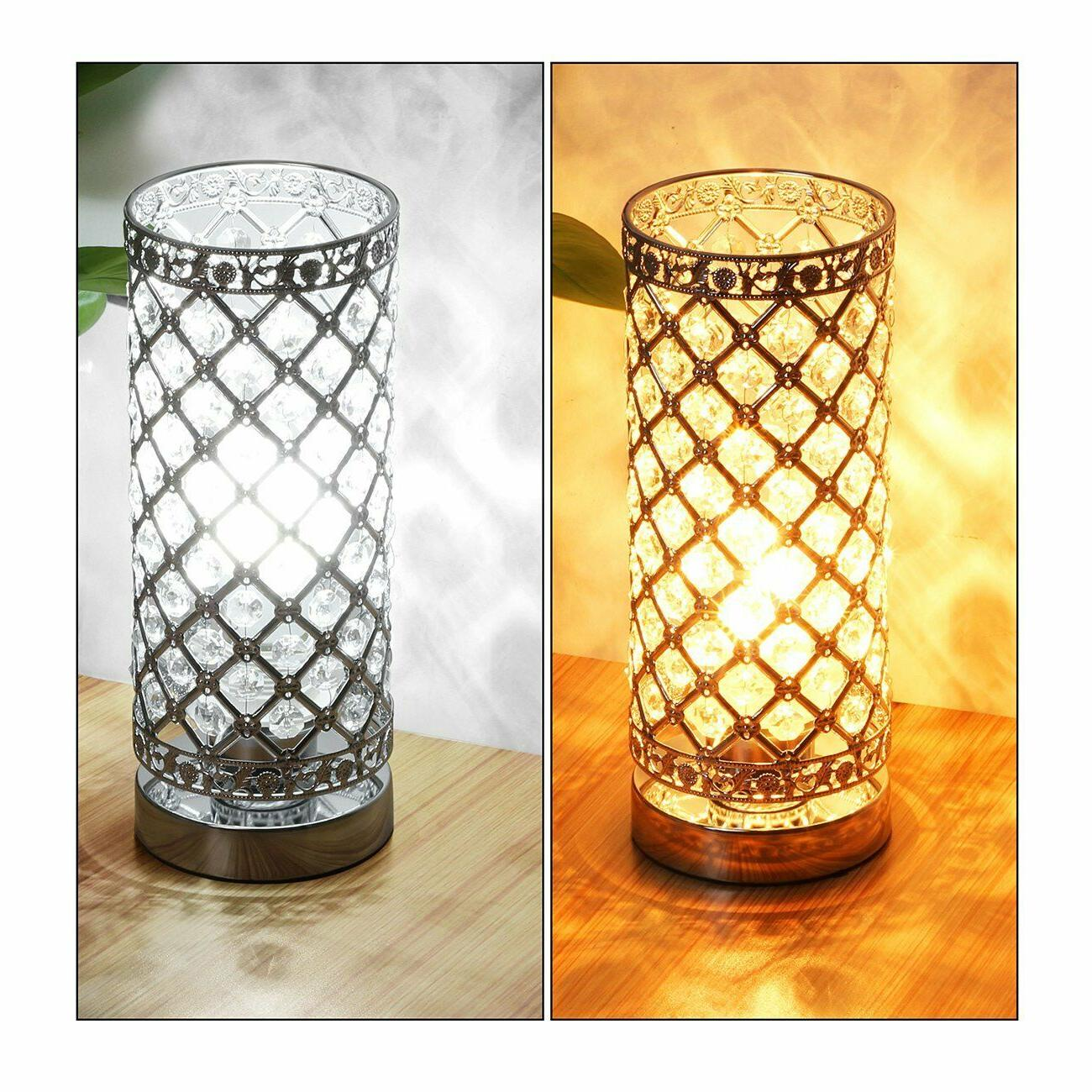 Crystal Lamp Touch Control Lamp Bedside