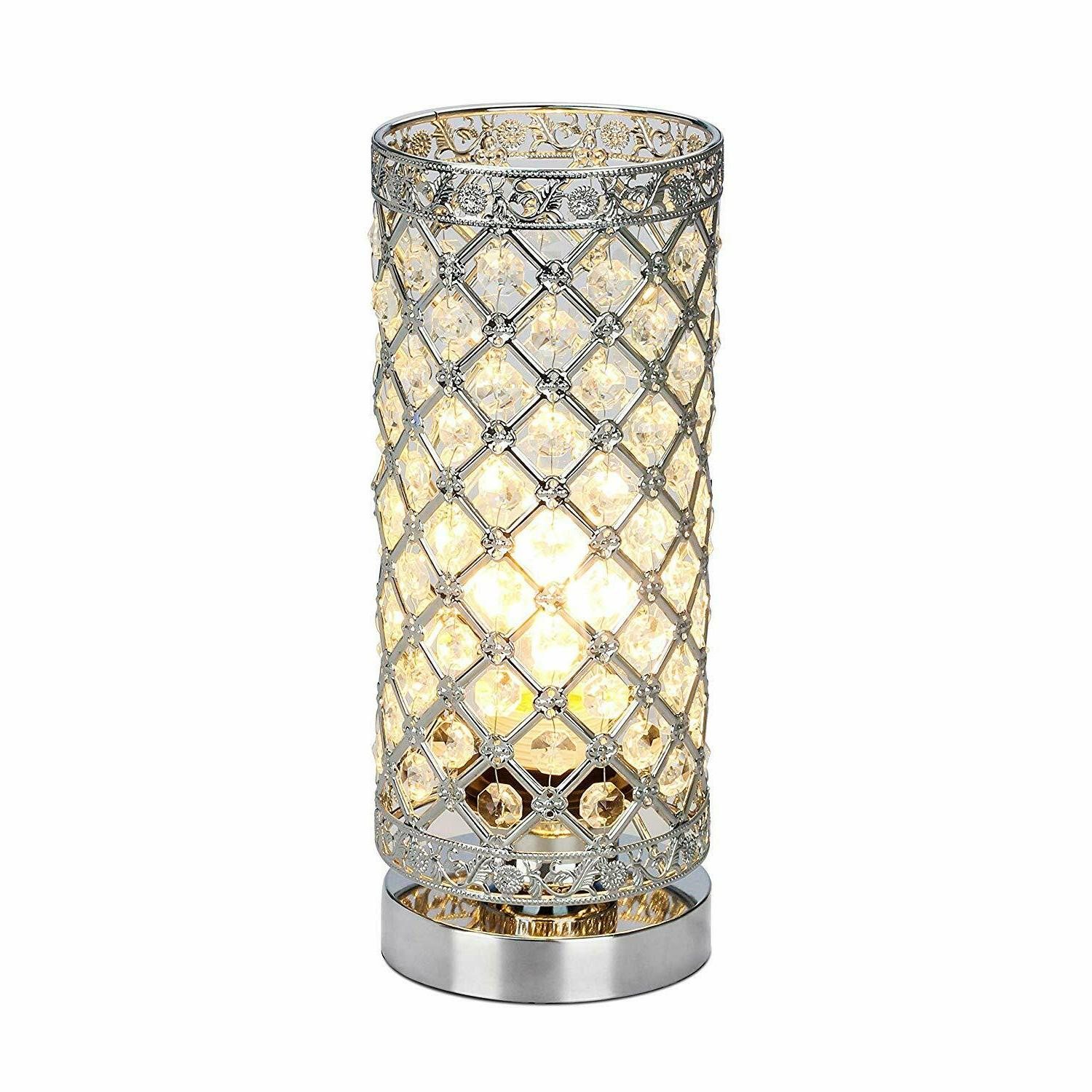 crystal table lamp touch control dimmable accent