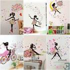 Cute DIY Lovely Girl Art Wall Stickers For Kids Rooms PVC Wa