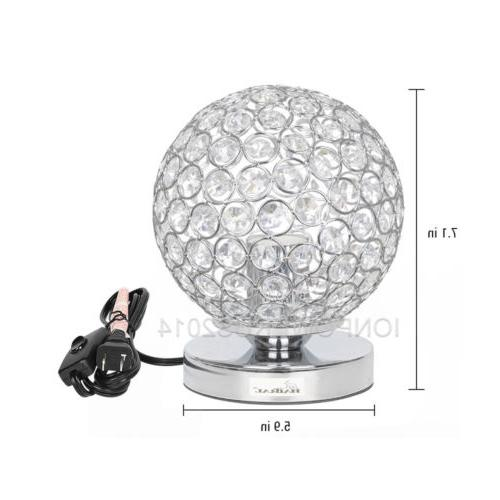 HAITRAL Decorative Crystal Ball Table Lamp Desk Lamp For Liv