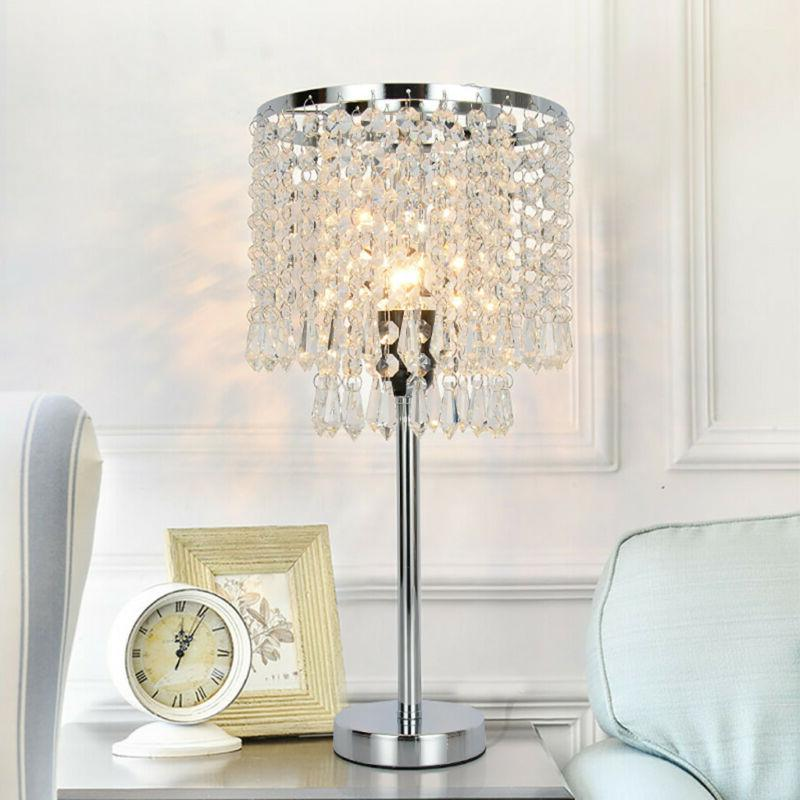 Crystal Table Lamp Elegant Decorative Desk Lamp With Crystal