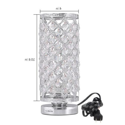 Crystal Table Lamp Bedside Nightstand Bedroom Living Room
