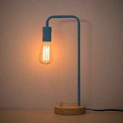 HAITRAL Desk Lamp Industrial Table Lamp Wooden Night Lamp fo