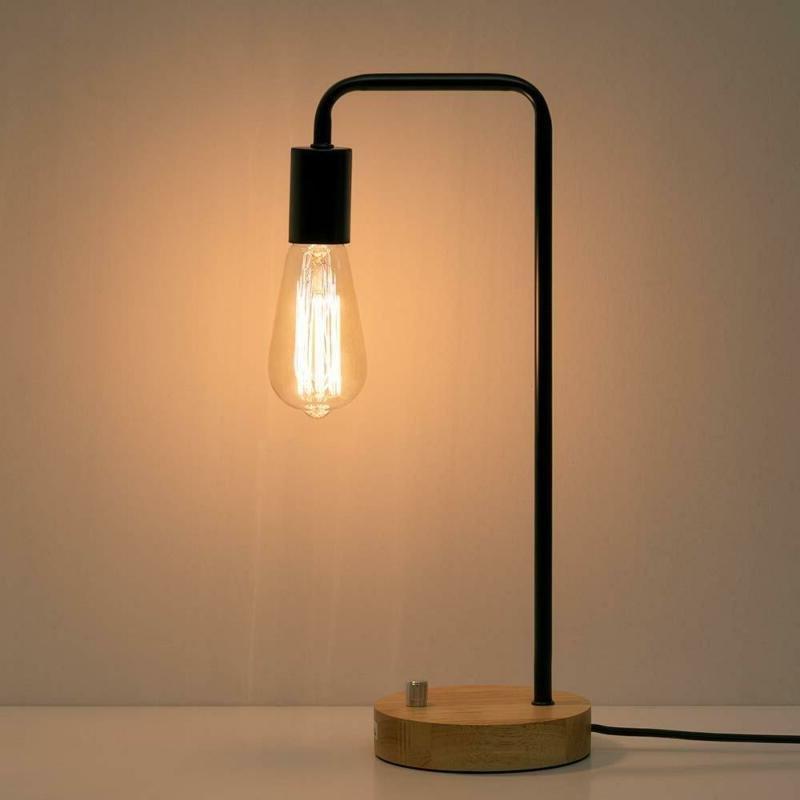 industrial desk lamp wooden table reading lamp