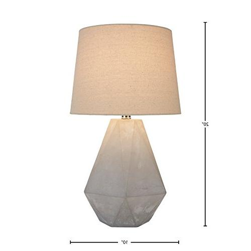 "Rivet Cut Concrete Table Lamp, 20""H, Bulb,"