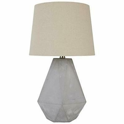 diamond cut concrete table lamp