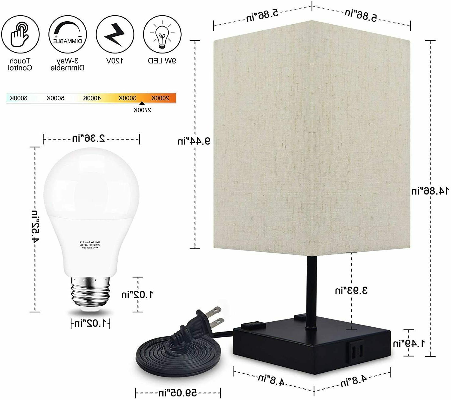 Dimmable Bedside Lamp USB