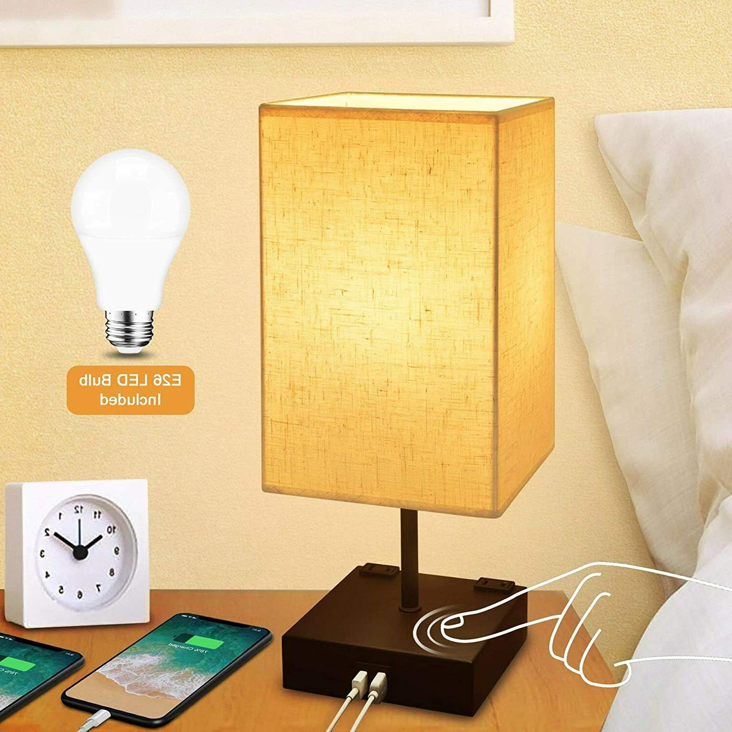dimmable 3 way touch control bedside lamp