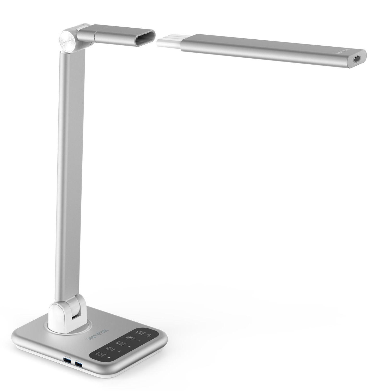 Dimmable LED Desk Lamp, BESTEK LED Table Lamp with Detachabl