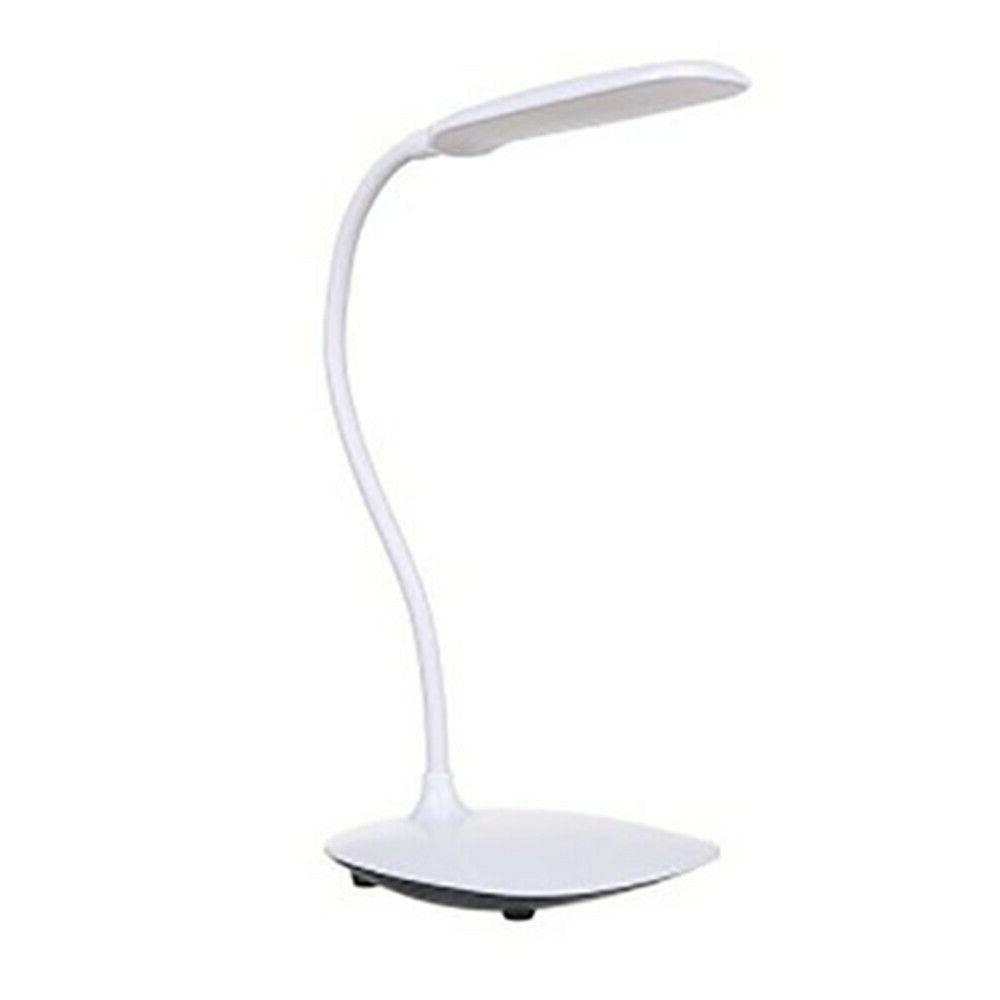 Dimmable LED With USB Table White For Office Home