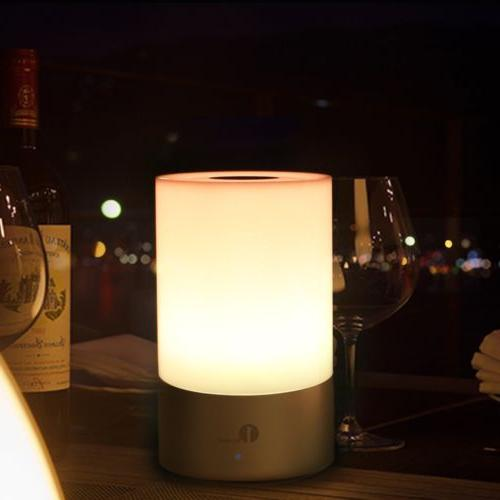 1byone Dimmable Sensor Table Lamp Bedside Touch Lamp Modern