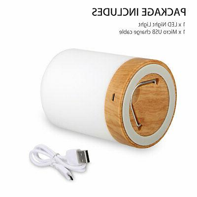 Dimmable Touch Sensor Lamp LED Sleeping Aid Bedside Light