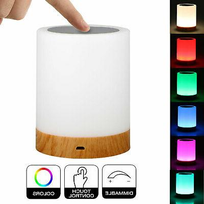 dimmable touch sensor table lamp led baby