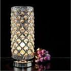 "Surpars House Elegant Crystal Silver Table Lamp - 11"" + Feit"