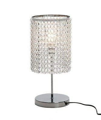 Surpars House Elegant Crystal Silver Table Lamp. Free Shippi
