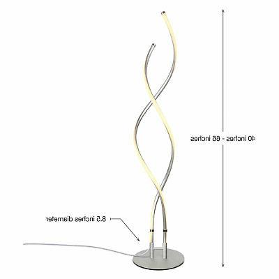 Brightech In Standing Lamp, Silver