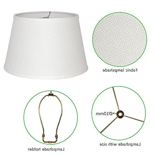 "Tootoo 9x12x8"" Fabric Natural Cone Barrel Hand Craft Shade Table Lamp,Spider"