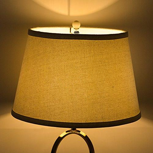 Tootoo Natural Linen Cone Hand Medium Lamp Shade Lampshade Table Lamp,Spider
