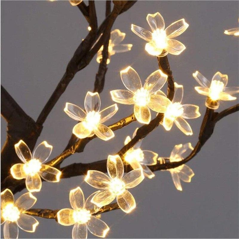 <font><b>Table</b></font> Cherry Blossom Tree 24 / Leds White Home Decoration