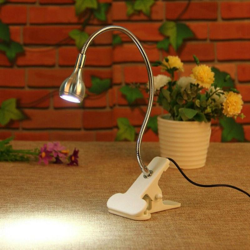 USB Flexible LED Table lamp Desk Holder Clip Bed Study Readi