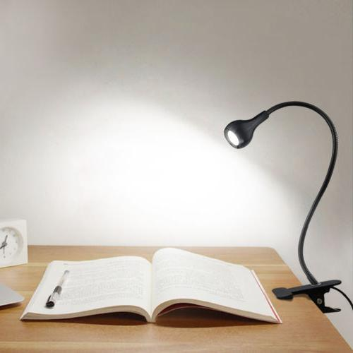 Flexible LED Table lamp USB Desk Clip Feeding