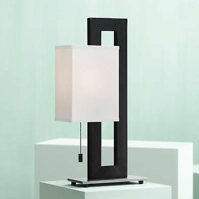 floating square table lamp black