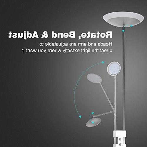 Finether Lamps Dimmable Lamp 3W 360-degree Lamp Reading Silver