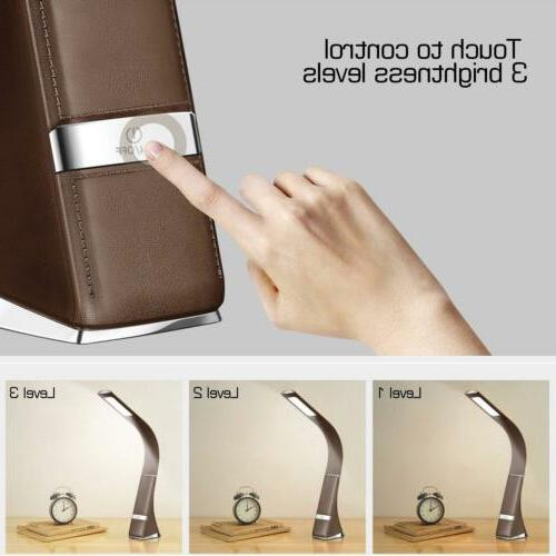 Portable LED Reading Light Office Table Lamp Bedside Leather Coffee
