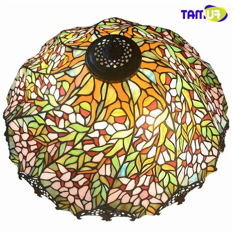 FUMAT Stained Glass Handcrafted led light <font><b>Lamp</b></font> <font><b>Inches</b></font> - Romantic Wisteria