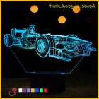 Formula 1 Racing Car 3D Table Lamp Acrylic LED Night Light f