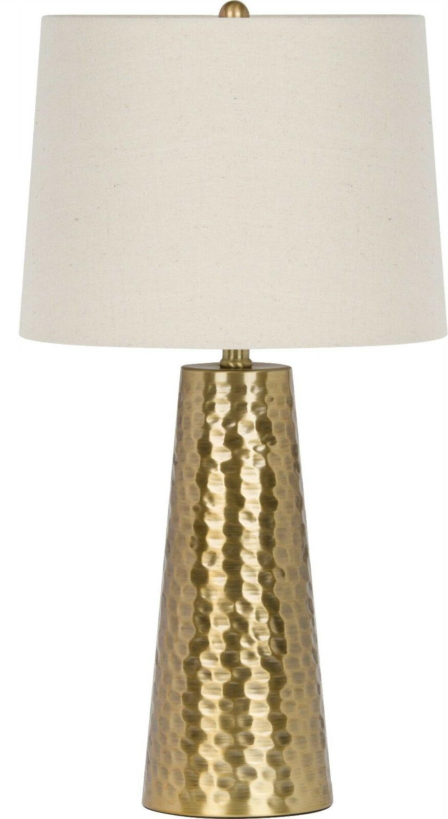 "Virtue Home Fucina Table Lamp, Brushed Gold Finish, 25.50""H,"