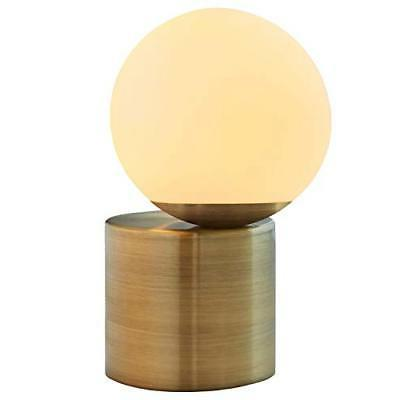 "Rivet Table with Bulb, 10""H, Brass"