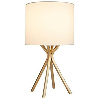 "Rivet Gold Table Lamp, 18""H, with Bulb, with Drum Linen Shad"