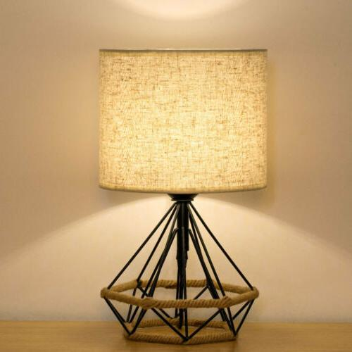 HAITRAL Bedside Lamps Minimalist Nightstand Lamps Basket
