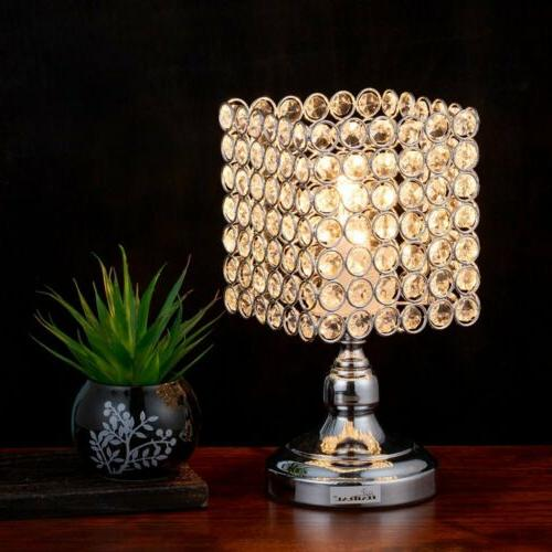 haitral bedside table lamps square crystal night