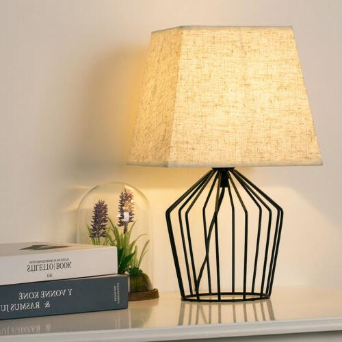 HAITRAL Lamps Basket Cage Style Fabric