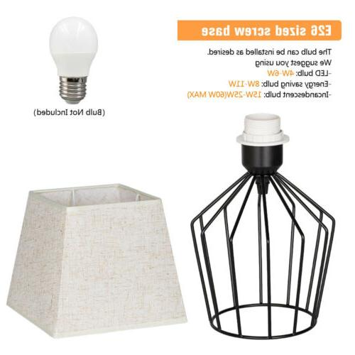 HAITRAL Lamps Basket Metal with Fabric