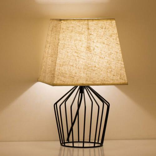 HAITRAL Table Lamps Metal Fabric