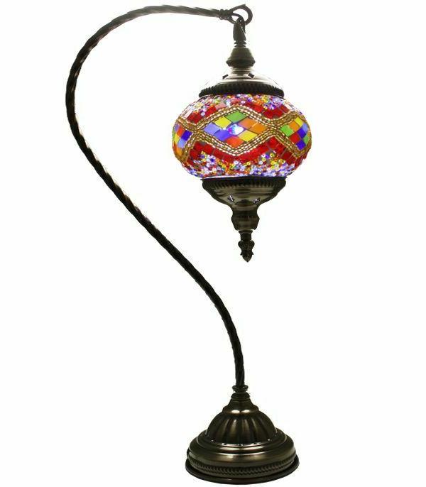 HAND MADE TURKISH,MOROCCAN LAMP - SWAN GLASS Lamp,Home