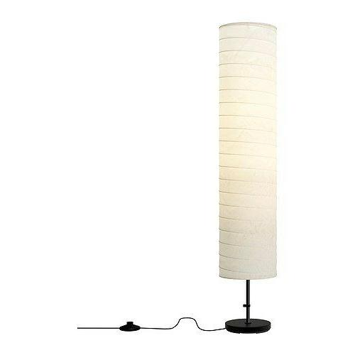IKEA HOLMO Floor lamp light white Rice paper shade Modern Co