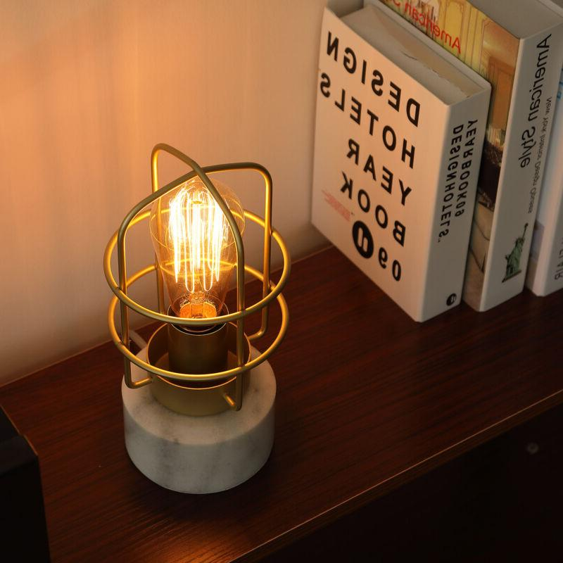 industrial 10 desk table lamp w marble