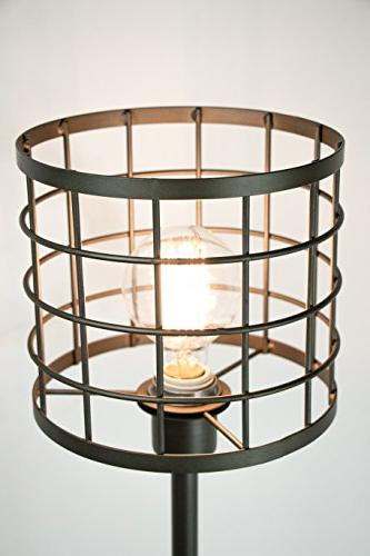 "Grandview 24.5"" Cast ft. Unique Metal Cage Shade and Visible Modern Lighting"